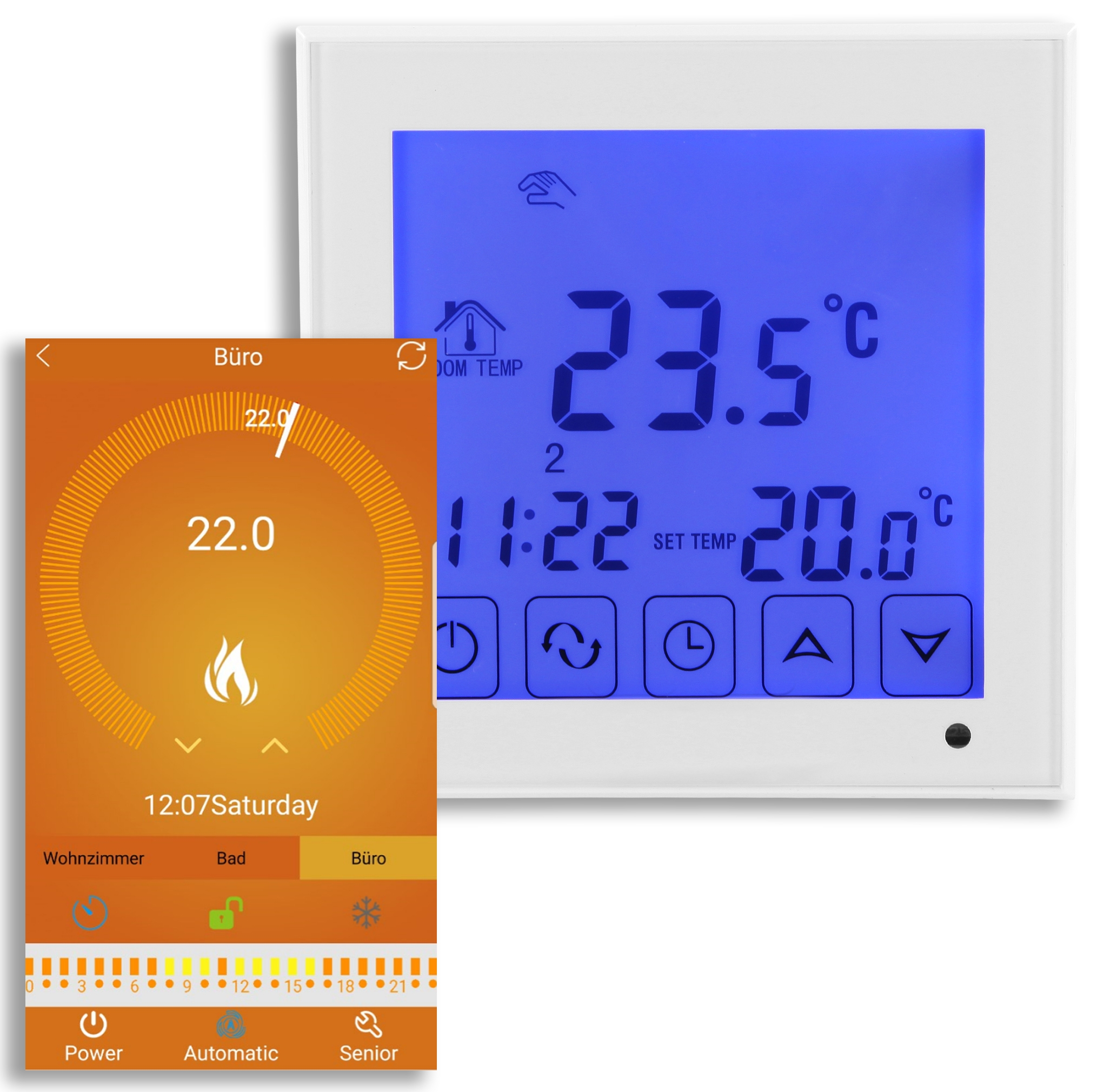 digital thermostat wifi f r fu pressemitteilung. Black Bedroom Furniture Sets. Home Design Ideas