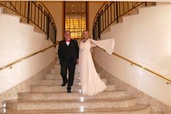 Die Gastgeber vom Berliner Presseball Melanie Simond und Mario Koss im Maritim Hotel Berlin