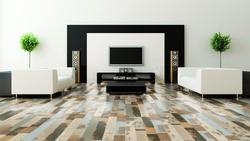 Wineo 600 Wood Klick-Vinyl Designboden in trendigem Patchwork Dekor