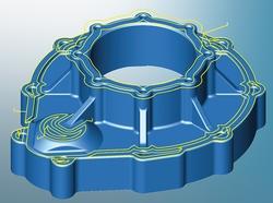 Die 3D-Planflächenbearbeitung ermöglicht die manuelle und automatische Auswahl der Flächen. (Bildquellen: OPEN MIND)