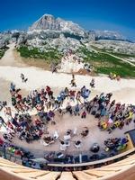 Puren Klassikgenuss auf über 2.000 Metern Höhe garantieren die Konzerte vor den Rifugi beim Festival e Accademia Dino Ciani in Cortina d'Ampezzo. Foto: Bandion