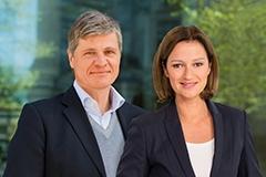 Thomas Walde und Bettina Schausten