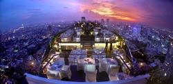 Der 360 Grad Blick im Vertigo und der Moon Bar im 61. Stock des Banyan Tree Bangkok