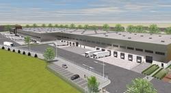 Düsseldorf: Hillwood beginnt spekulatives Logistikprojekt . So soll das geplante Logistikzentrum in Düsseldorf-Heerdt ausschauen (Visualisierung: Hillwood)