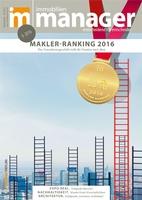 immobilienmanager publiziert die Resultate des Makler-Rankings 2016 in seiner September-Ausgabe (Bildquelle: @immobilienmanager)