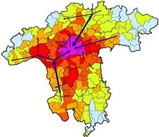Schematische Darstellung der Trinkwasserbedarfsdeckung in der Rhein-Main-Region