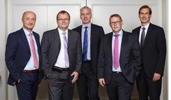 Der RMA-Vorstand: Ralf Kimpel (Vorstandsvorsitzender), Dr. Roland Spahr, Dirk Schäfer, Marco Wolfrum (Stellv. Vorstandsvorsitzender), Jan Offerhaus (Kassenwart). Es fehlt Mareike Napp. (von links)