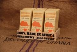 fairafric Tafeln der ersten Produktion Zartbitterschokolade