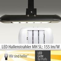 LED Hallenstrahler Serie MH SL mit über 155 Lumen pro Watt vor
