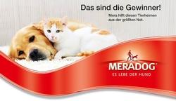 Meradog Spendenaktion mit zusätzlichem Hundefutter und Katzenfutter für Tierheime