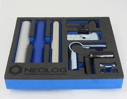 Der Inbegriff eines ergonomischen, aufgeräumten und sauberen Arbeitsplatzes im Geiste von Kaizen: Shadowboards von OSAAP, erhältlich über NeoLog.(Bildquelle: NeoLog)