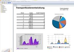 Auf der LogiMAT zeigt Städtler-Logistik neue Erweiterungen von LP/2, der Standardsoftware für Transportmanagement, Frachtberechnung und Gutschriftverfahren (hier: ein Dashboard aus dem BillingPortal).