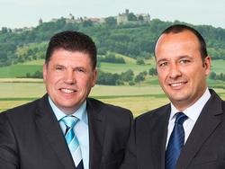 CEOs von Würth Elektronik eiSos, Oliver Konz (links) und Thomas Schrott(Bildquelle: Würth Elektronik eiSos)