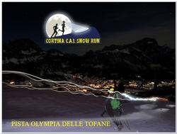 Winter-Challenge der besonderen Art: Beim Cortina C.A.I Snow Run geht es für Läufer über die schneebedeckten und weltberühmten Pisten von Cortina d'Ampezzo. Foto: Dino Colli